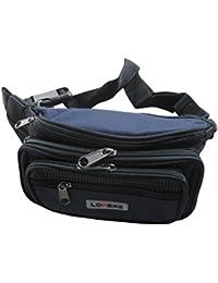 Unisex 7 Zip Polyester Bumbag Waist Bag Money Belt