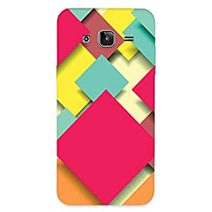 GripIt Square Papers Abstract Case for Samsung Galaxy J3