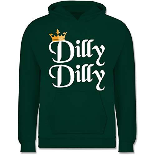 lly Dilly - St. Patricks Day - 12-13 Jahre (152) - Türkis - JH001K - Kinder Hoodie ()