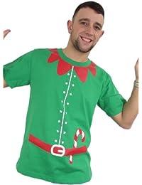 Christmas Jumper Elf Outfit T-Shirt ( Medium ) ( Green )