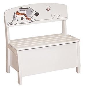 roba Gustav 50765 - Banco y baúl de juguetes de madera para niños (61.5 x 62 x 33 cm) importado de Alemania