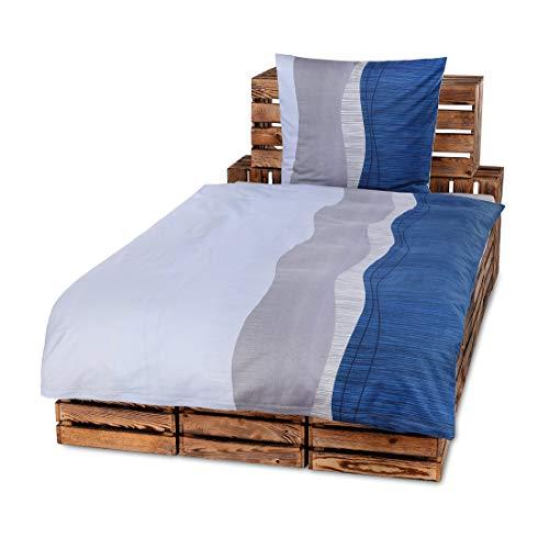 4 Teilig Hochwertige Biber Bettwäsche Mit Reißverschluss 2x 135x200