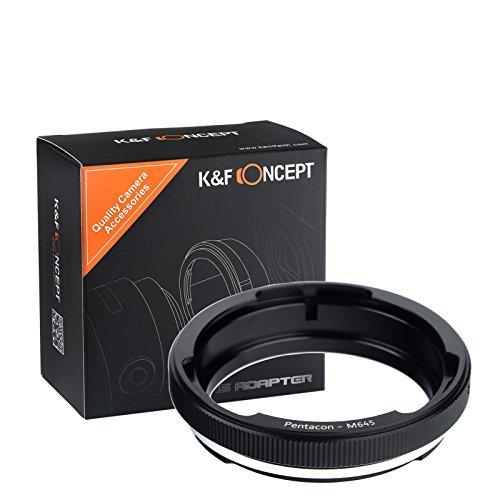 K&F Concept Pentacon - M645 Objektiv Mount Adapter Ring für Pentacon Objektiv auf Mamiya 645 Kamera Adapterringe Kamera Zubehör Pentacon-M645 (Mamiya 7 Objektive)