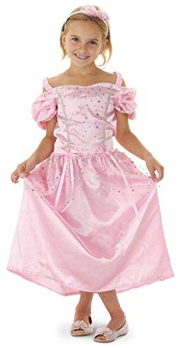 Folat 21823 - 2 teiliges Märchen Prinzessin Kleid rosa mit Haarreif (Kostüme Märchen Mädchen Für)