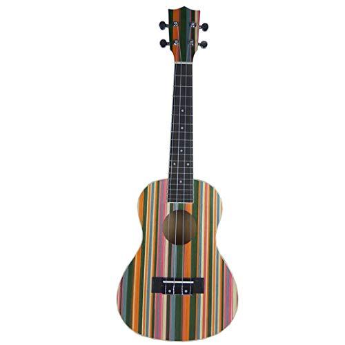 XHHWZB Ukelele soprano ukelele de caoba de 24 pulgadas con tatuaje Kids Guitar para profesionales - acabado mate