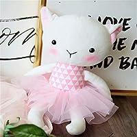 TYKCRt Cute Pink Dress Rabbit Cat Sheepdoll Plush Toys Children Pacify Sleep Doll 36cm C