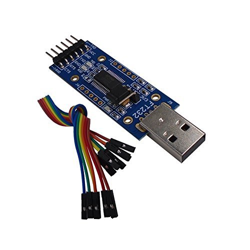 DSD TECH Adattatore seriale da USB a Ttl con Chip FTDI FT232RL Compatibile con Windows 10, 8, 7 e Mac OS X