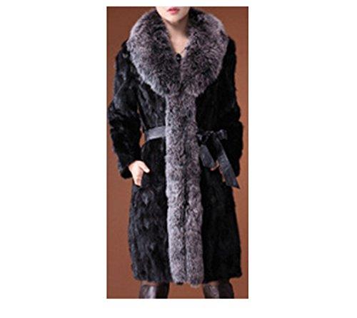 Femmes Hiver Long Fluffy Veste en Fausse Fourrure épaisse Courte Veste Manteau Chaud survêtement Pardessus