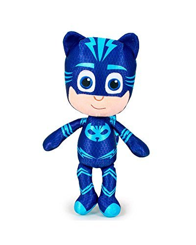 "PJ Masks 5962 Plush Toy, 14""/34cm, Quality Super Soft, Catboy, Owlette and Gekko (Catboy)"