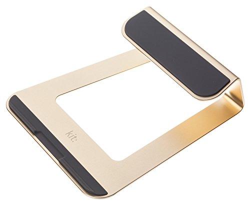 Kit Laptopständer Stand für Apple MacBook Ergonomisch Portabel Kühlend aus Hochwertigem Robustem Aluminium mit Rutschfesten Gummifüßen - Gold