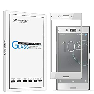 Newzerol [2 Pack] for Sony Xperia XZ Premium [Luminous Chrome] (5.5 inch) [Full Coverage] 9H High-Definition Tempered Glass Screen Protector -Silver