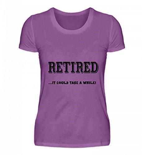 Hochwertiges Damen Organic Shirt - RETIRED... It Could Take A While! Lila
