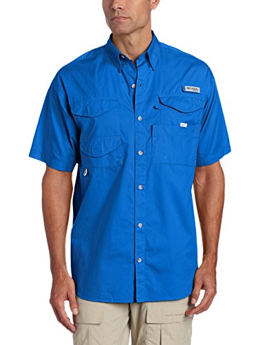 Columbia Men's Bonehead Short-Sleeve Work Shirt, Vivid Blue, 3XL - Bonehead Kurzarm-shirt