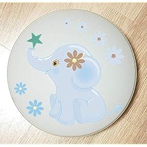 Deckenleuchte Wandlampe DSCHUNGEL Tiere Elefant blau 9 auch LED – mit/ohne Name