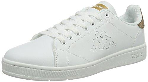 kappa-court-glory-sneakers-basses-femme-blanc-white-gold-40-eu