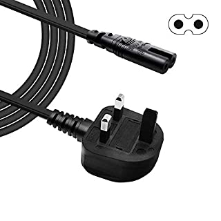 BERLS 2 Pin Mains Power Lead Figure 8 IEC C7 Cable for HP ENVY/OfficeJet, Canon Pixma/Maxify, Epson Stylus/WorkForce / Expression Premium/Artisan, Brother, Dymo LabelWriter and Other Printer