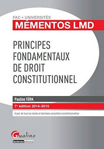 Principes fondamentaux de droit constitutionnel 2014-2015