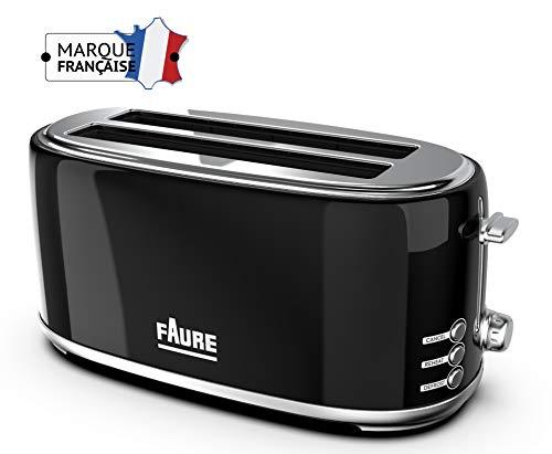 Faure FT2L-1611 Grille Pain, Noir