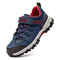 Boys Trail Running Kids Hiking Shoes Youth Athletic Outdoor Waterproof Sneakers Navy Size 11