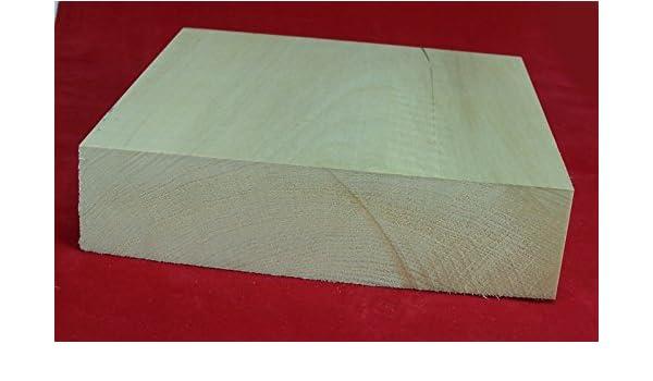 1 Stück Lindenholz unbehandelt zum Schnitzen oder drechseln 4,7x10x10 cm