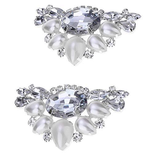 NON Baoblaze 2 Piezas Clip Zapatos Diamantes Imitación