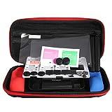 Lidahaotin 7 IN 1 Protective Kit mit Tragetasche für Joy-Con-Silikon-Kasten Pet Film Griff Griffe Staubdicht-Sets für Nintend Schalter NS