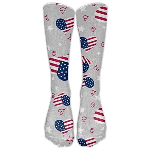Linkla Danniol Quite A Lot Love Cotton Knee Socks Convenient High Athletic Compression Socks For Women 50cm