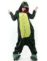 New Women's Adult Pajamas Ladies Unisex Fleece Animal Onesies Kigurumi Novelty Pyjamas Nightwear Costumes Halloween