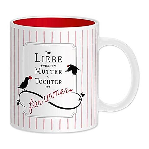 """GRUSS & CO 44342 Tasse mit Motivdruck """"Die Liebe zwischen Mutter und Tochter ist für immer"""", Steinzeug"""