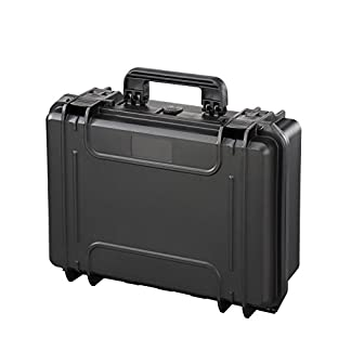 Plastica Panaro MAX430S.079 Maleta Rígida con Espuma Alveolar, Negro, 464 x 366 x 176 mm