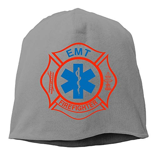 EMT Firefighter Maltese Cross Fashion Unisex Hedging Cap Knitted Hat Funny Unisex Hip hop -