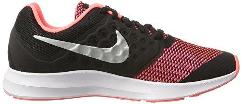Nike Mädchen Downshifter 7 (Gs) Hallenschuhe Schwarz (black/metalic Silver-Lv Glow-White)