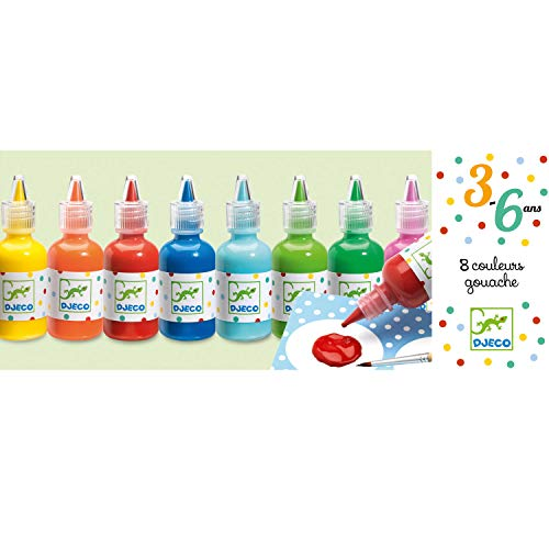 Djeco-8 bouteilles de gouache