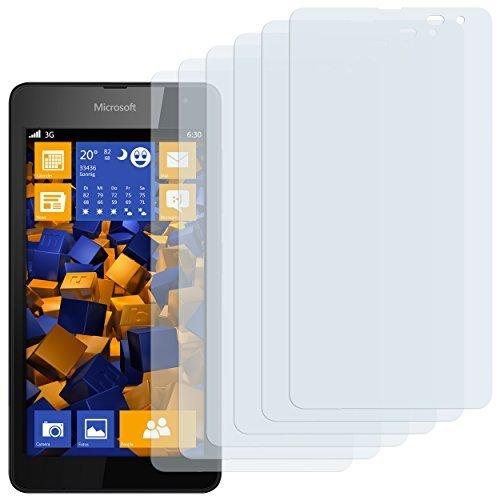 6 x mumbi Schutzfolie Microsoft Lumia 535 Folie Displayschutzfolie