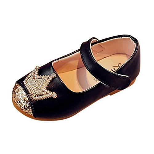chuhe, Neuen Kleinkind Baby Mädchen Kristall Krone Bling Prinzessin Schuhe Erbsen Schuhe Einzelne Schuhe Sandalen ()