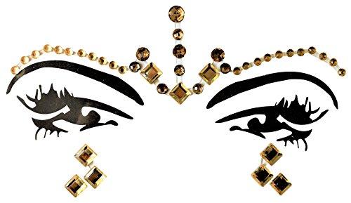 Gesicht und Körper Juwelen Edelstein Aufkleber Glitter MAKE-UP für Party Festival Shows und Bühnenauftritte gold (Körper Juwel Kleben)