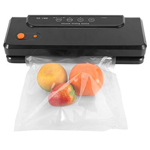 Asixx Vakuumierer, Vakuumiergerät Folienschweißgeräte um Lebensmittel Länger Frisch zu Halten Natürliche Aufbewahrung für Gemüse, Obst und Fleisch usw, 40 x 15 x 7cm(220V EU Stecker-Schwarz)