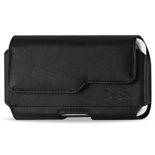 de-Bin XXL Größe Premium LG G32014Leder Gürtel Clip Tasche Schutzhülle/Holster (Passt LG G32014mit Box Otter Box Defender/Lifeproof/Mophie Juice Pack Air/Plus Fall auf) Premium Leder Clips