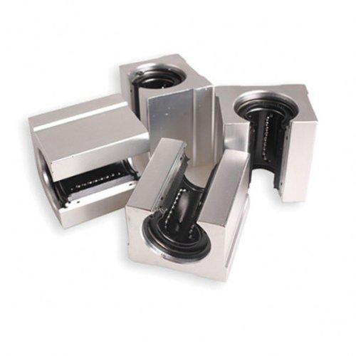 Dealglad ® Sbr16uu 16 mm, confezione da 4 pezzi, in alluminio, Router movimento lineare, vi-Cuscinetto a sfera