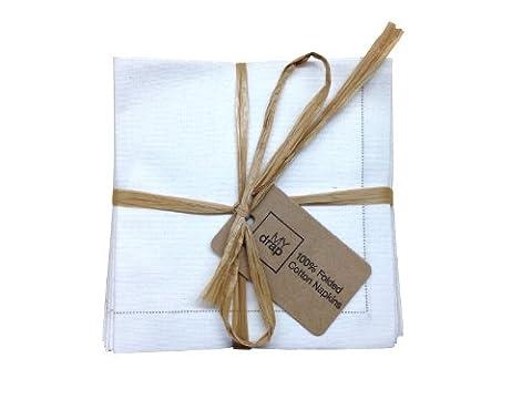 Cotton Folded Napkins - 4.0 x 4.0 in - 20 units per pack - Ecru