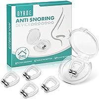 Dyroe Dilatador Nasal Anti Ronquidos 4 Pack [Versión 2020], Nose Clip Silicona con Imán Mejora la Respiración Nariz Clip para Ayudar a Dormir Mejor Antironquidos para el Ejercicio