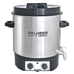 Bielmeier 495200 Einkoch und Glühwein-Vollautomat, 27 L, 3/8 Zoll Edelstahl-Auslaufhahn, 1800 W, BHG 495.2