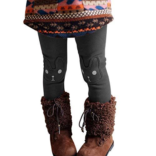 Chic-Chic Legging Bébé Fille en Coton Pantalon de Sport Collant Motif Imprimé Doux Mignon et Confortable Chaud Automne Hiver Gris 3-4 Ans (Tour de Taille 90 cm)