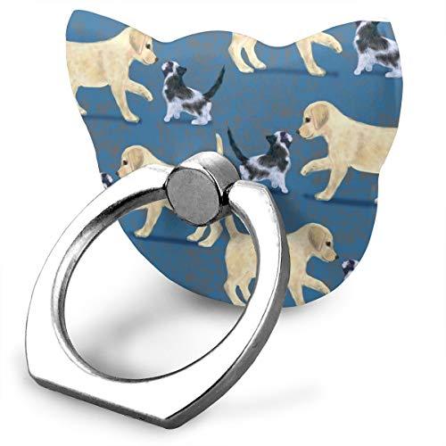 best& Yellow Labrador Retriever and Kitten_22318 360 Degree Swivel Creative Ring Buckle Bracket Multi-Functional Ring Bracket Stand for Universal Phone -