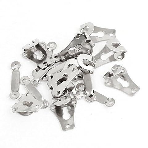 50x 9mm Hosen-Haken und Bars für Röcke oder Hosen-Haken- und-Eye Schließung mit Metall Öse für Nähen und Kleidung-Repair-Ersatz Verschluss - Gancio Cucire Eye