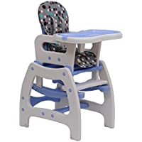 Homcom 420-001BU 3 in 1 Kinderhochstuhl Kombihochstuhl Multifunktion Babyhochstuhl mit Schaukelfunktion in verschiedenen Farben, mehrfarbig