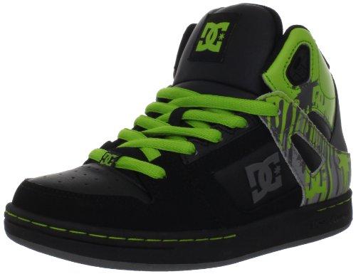DC Shoes - REBOUND YOUTH - BBPD - D0302676B/1 Mädchen Sportschuhe - Skateboarding, Black/Lime, 34 (Schuhe Dc Youth)