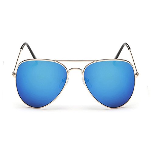RazMaz Aviator Men Girls Sugnlass Stylish Shades UV400 (Gold Blue)