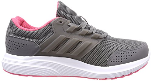 adidas Galaxy 4 W, Chaussures de Running Femme Gris (Grey Four/Grey Four/Real Pink 0)