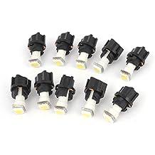 Interno 10 piezas Coche T5 5050 SMD LED Bombillas PC74 Panel De Sockets Luz Blanca